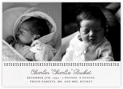 Triangles Splitscreen - Black - Paperless Post - Birth Announcements