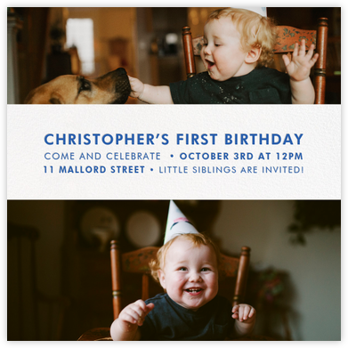 Title Card - White - Paperless Post - First Birthday Invitations