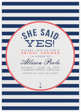 Nautical Stripe Bridal Shower | tall