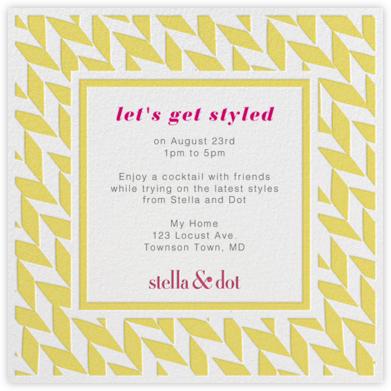 Stella And Dot Diagonal - Yellow - Paperless Post -