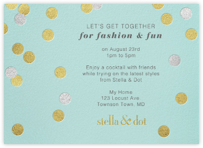 Stella And Dot Dots - Gold - Paperless Post