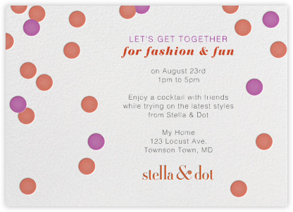 Stella And Dot Dots - Orange - Paperless Post -
