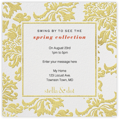Stella And Dot Scarf - Gold - Paperless Post -