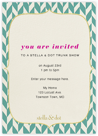 Stella And Dot Vertical - Blue - Paperless Post