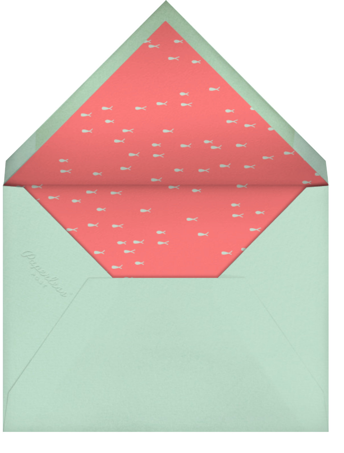 Split Screen - Coral - Paperless Post - Envelope