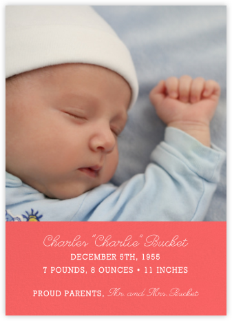 Split Screen - Coral - Paperless Post - Birth Announcements