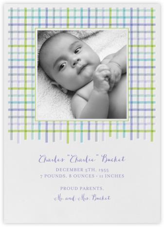 Tattersall - Blue Green - Paperless Post - Birth Announcements