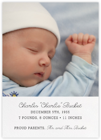 Split Screen - Ivory - Paperless Post - Birth Announcements