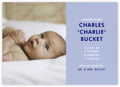 Photo Spread - Powder Blue - Paperless Post - Birth Announcements