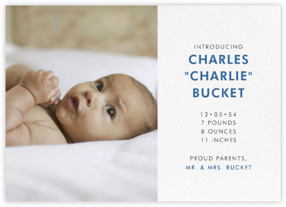Photo Spread - White - Paperless Post - Birth Announcements