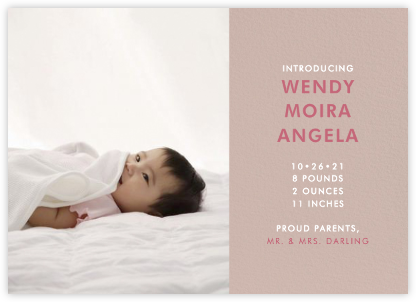 Photo Spread - Rose - Paperless Post - Birth Announcements