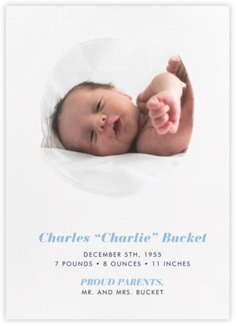 Painted Circle - Paperless Post - Birth Announcements