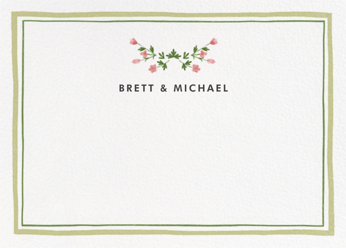 Floral Border (Stationery) - Paperless Post - Stationery