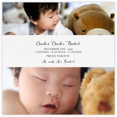 Title Card - Ivory - Paperless Post - Birth Announcements