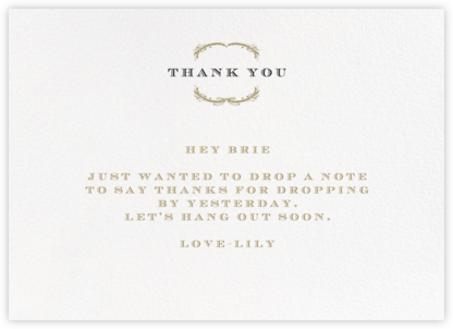 Loire Horizontal - Gold - Paperless Post - General thank you notes