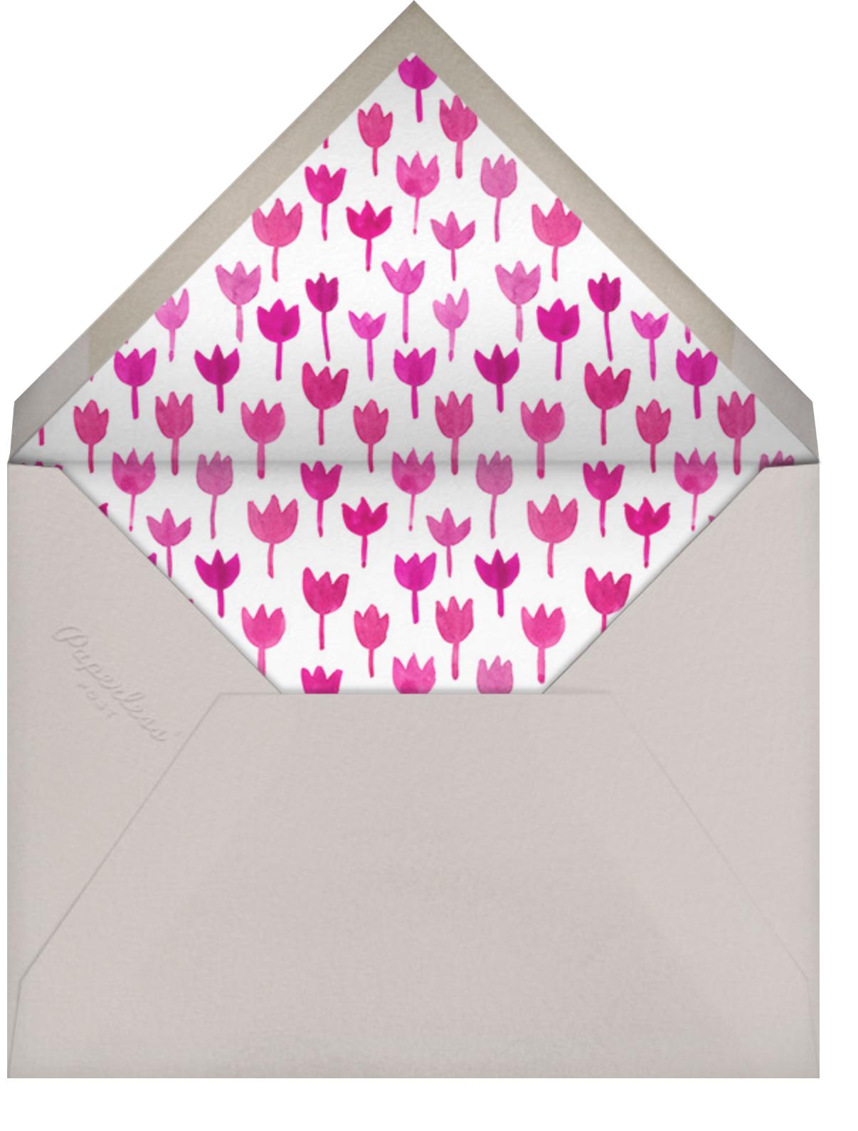 Watercolor Tulips - Linda and Harriett - Easter - envelope back