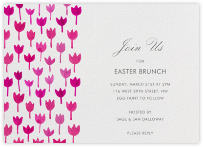 Watercolor Tulips - Linda and Harriett - Easter Invitations