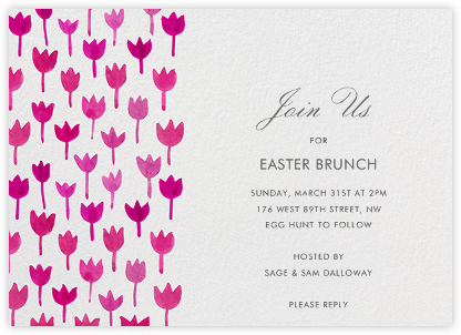 watercolor tulips - Easter Party Invitations