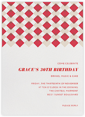 Infographic (Tall) - Red - Paperless Post - Adult Birthday Invitations