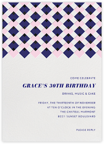 Infographic (Tall) - Blue - Paperless Post - Adult Birthday Invitations