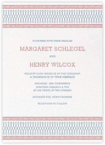 Spirals (Invitation) - Coral - Paperless Post - Wedding Invitations