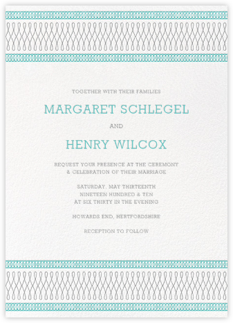 Spirals (Invitation) - Lagoon - Paperless Post - Wedding Invitations