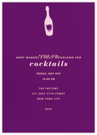 Eggplant (Tall) - Paperless Post - Adult Birthday Invitations