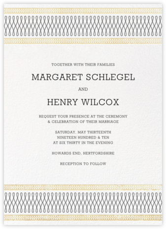 Spirals (Invitation) - Gold - Paperless Post - Wedding Invitations