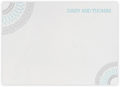 Spirals Horizontal - Turquoise And Gray - Paperless Post