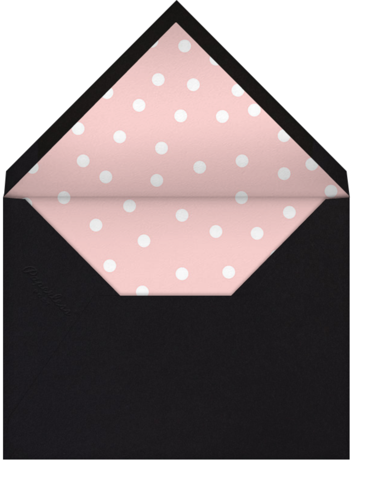 Join Us (Dots) - Pink/Black - Linda and Harriett - Cocktail party - envelope back