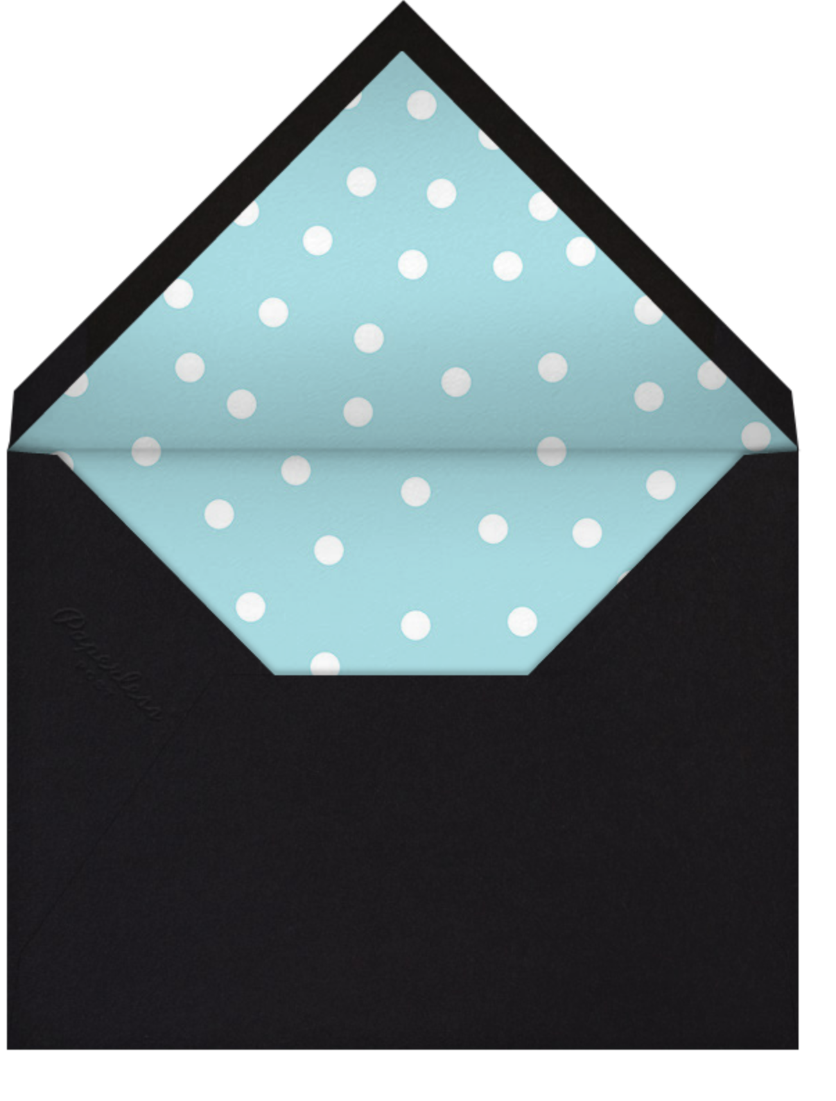 Join Us (Dots) - Blue/Black - Linda and Harriett - Cocktail party - envelope back