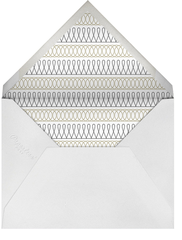 Spirals Horizontal - Black And Gold - Paperless Post - Envelope