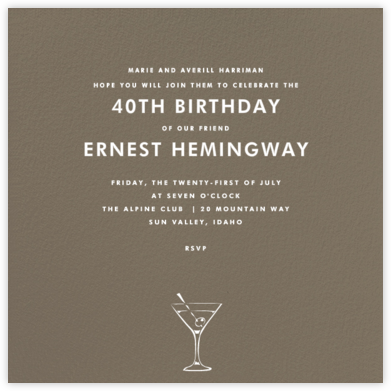 Clay (Square) - Paperless Post - Birthday invitations