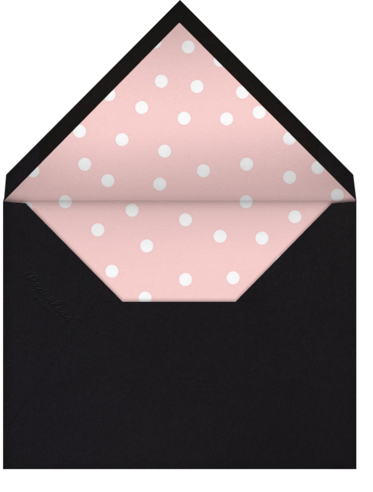 Join Us (Dots) - Pink/Black - Linda and Harriett - Adult birthday - envelope back