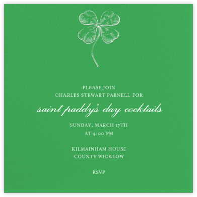 Emerald (Square) - Paperless Post - St. Patrick's Day Invitations