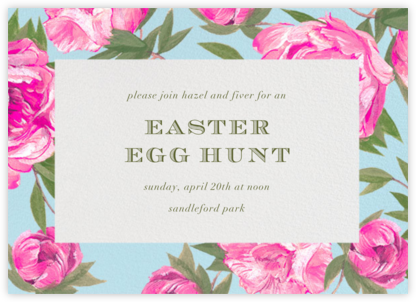 Pink Peony Frame - Paperless Post - Easter invitations