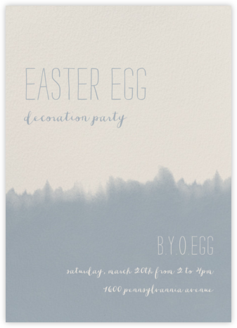 Dip Dye - Pacific - Paperless Post - Easter invitations