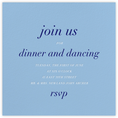 Spring Rain (Square) - Paperless Post - Dinner Party Invitations