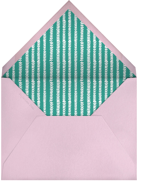 Gingham Pink - Paperless Post - Spring entertaining - envelope back