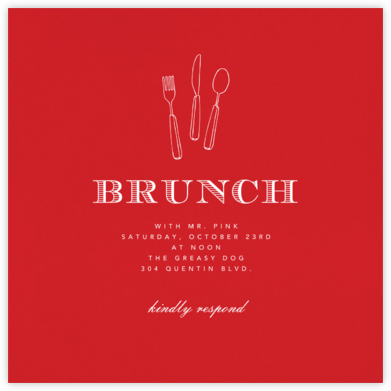 Red (Square) - Paperless Post - Brunch invitations