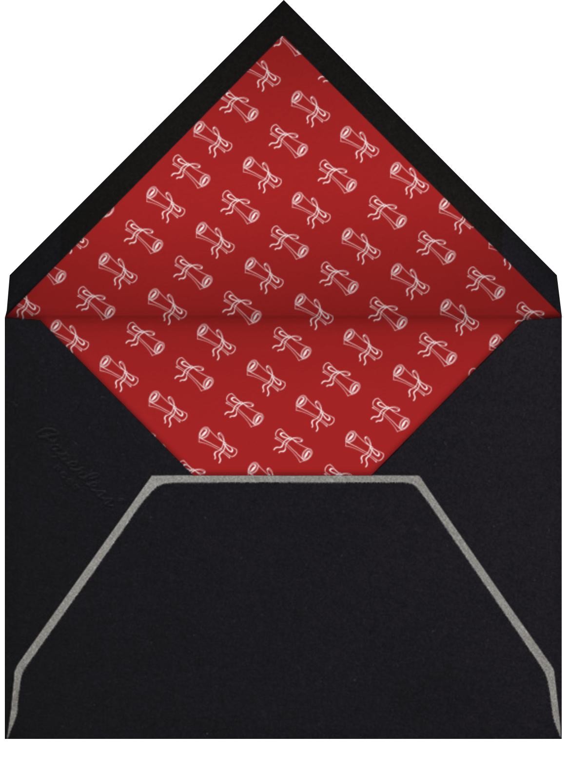 Geometric - Paperless Post - Graduation party - envelope back