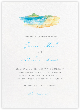 Beach Scene - Paperless Post - Destination Wedding Invitations