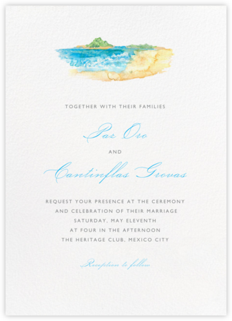 Beach Scene - Paperless Post - Wedding Invitations