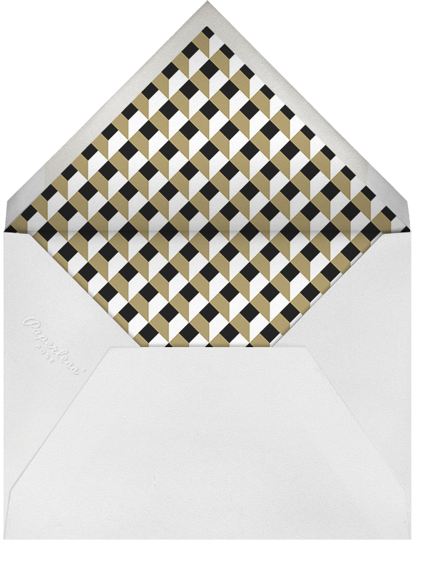 Dotted Frame Horizontal - Black Sepia - Paperless Post - Envelope