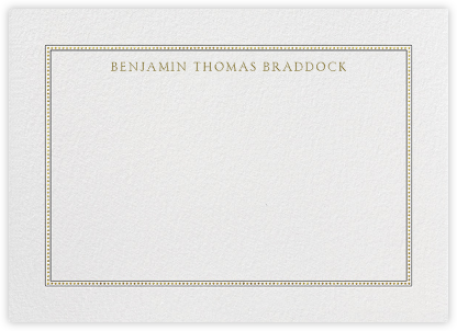Dotted Frame Horizontal - Black Sepia - Paperless Post -
