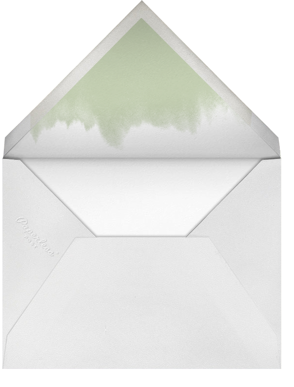 Dotted Frame Horizontal - Charcoal Sage - Paperless Post - null - envelope back