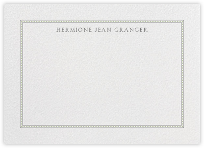 Dotted Frame Horizontal - Charcoal Sage - Paperless Post -