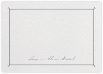 Double Loop Frame Horizontal - Black - Paperless Post - Personalized Stationery