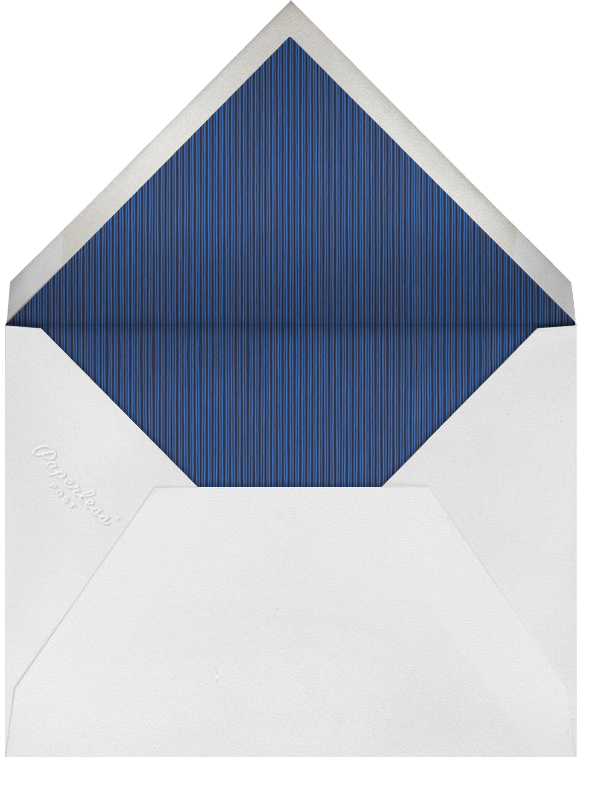 Double Loop Frame Horizontal - Dark Blue - Paperless Post - Personalized stationery - envelope back