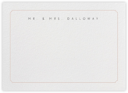Indented Rounded Corners Horizontal - Antique Pink - Paperless Post - Personalized Stationery